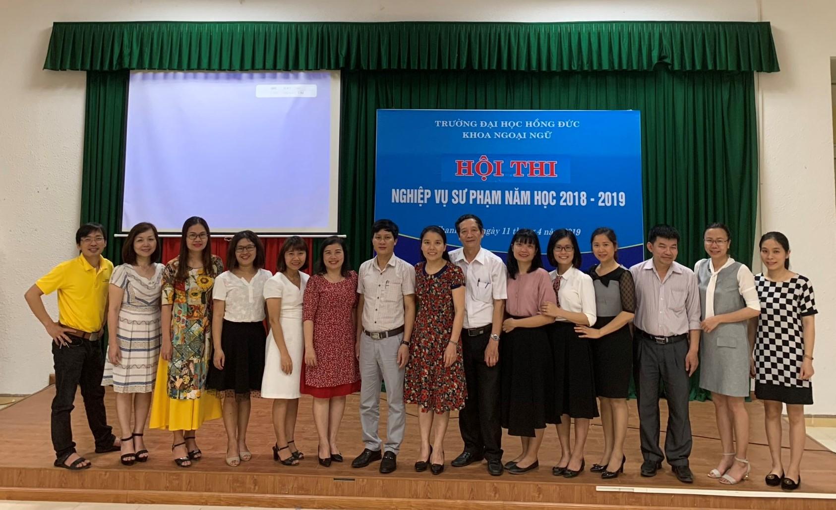 Hội thi Nghiệp vụ sư phạm năm học 2018-2019